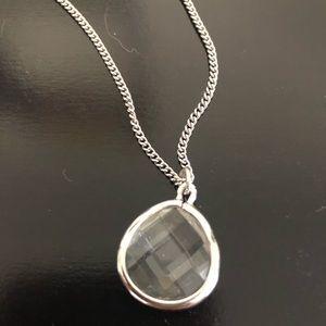 Express silver pendant necklace
